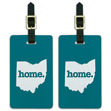 Ohio OH Home State Luggage Suitcase ID Tags Set of 2