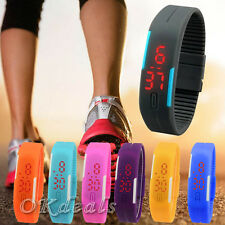 2015 Unisex Womens Mens Silicone Digital LED Sports Touch Bracelet Wrist Watch