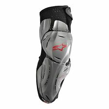 ALPINESTARS Bionic SX Knee Guards (One Pair) MX ATV (Silver/Red/Blk) Choose Size