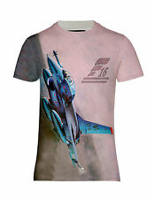 NEW F-16 FIGHTING FALCON AIRCRAFT JET FIGHTER PLANE ALL OVER HD PRINTED T-SHIRT