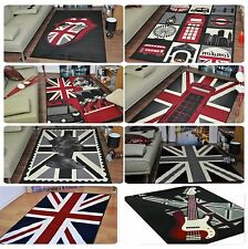 Extra Large Union Jack Modern Funky Retro Rugs Cheap Soft Area Rug Mats Carpet