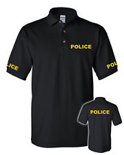 POLICE POLO SHIRT-NEW-FRONT-BACK-SLEEVES-LAW ENFORCEMENT-FIRST RESPONDER