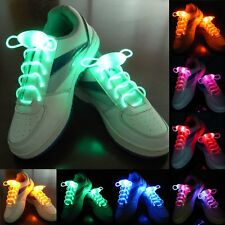 3 Modes Cool LED Flash Luminous Light Up Glow Shoelaces Waterproof Shoelaces New