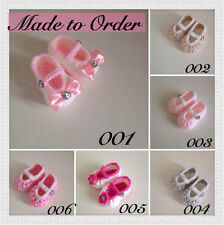 MADE TO ORDER  Baby Girl's Shoes / Sandals up to  12 Months Handmade Crochet