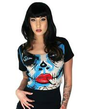 Too Fast Live Fast Crop Top Leopard Zombie Rockabilly Goth Punk Pinup Tattoo  XL