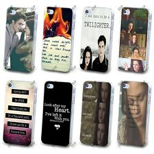 NUOVO Twilight Bella Edward MOVIE preventivo HARD CASE COVER PER APPLE IPHONE 4 5 5S 5C