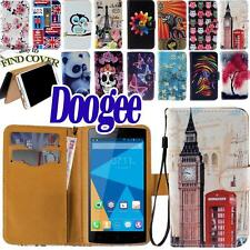 FLIP Stand CARD WALLET LEATHER Cover Custodia Folio Per Vari Smartphone Doogee
