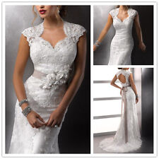 2015 New White/Ivory Lace Wedding Dress Bridal Gown Size 6 8 10 12 14 16 18 ++