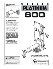 Weider - Platinum 600 Series User Manual