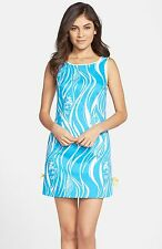 Lilly Pulitzer Delia Shift Dress, Joe Fish, White/Turquoise,  0, 2, 4, 10, NWT