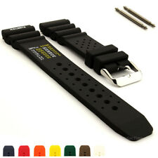 N.D. Limits Mens Silicone Rubber Waterproof Divers Watch Band Strap PRO