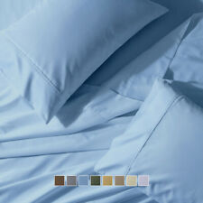 "22"" Super Soft &Extra Deep Pocket Sheets, 300 Thread Count 4PC Sateen Cotton Set"
