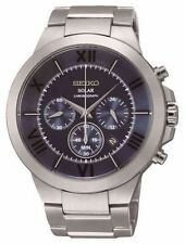 MENS BRAND NEW SEIKO SOLAR POWERED CHRONOGRAPH WATCH SSC281P9