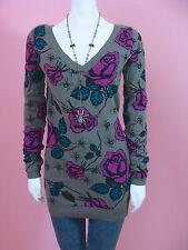 Betsey johnson Spider Rose Tunic Sweater Dress Top
