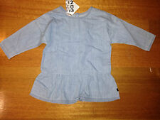 Baby BONDS gorgeous long sleeve denim dress BNWT RRP $26.95 Size 0 FREE POST