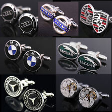 Exquisite Watch Movements cuff link car logo Cufflinks Mens Wedding Party Gifts