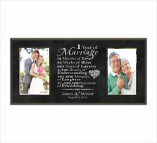 Personalized Wedding Photo Frame, Wedding Gift, Anniversary Gift, Double Picture