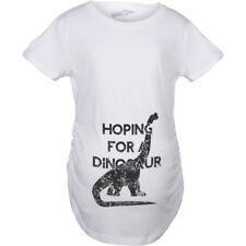 Maternity Hoping For a Dinosaur Funny Baby Pregnancy Announcement T shirt