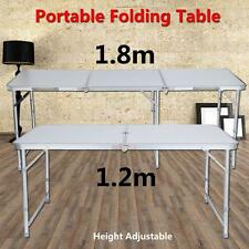 Aluminium Portable Table De Camping Réception Pliante Pique-Nique 120cm / 180cm