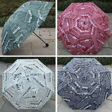 Men Parasol New Umbrella Anti UV 3 Folding Newspaper Print Light Unique Umbrella