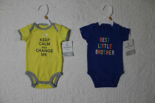 NEW CARTERS BOYS ONE PIECE BODYSUIT VARIOUS STYLES AND SIZES BEST LITTLE BROTHER