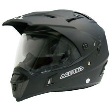 Casco Helmet Helm ACERBIS ACTIVE nero opaco black matt motard enduro quad atv