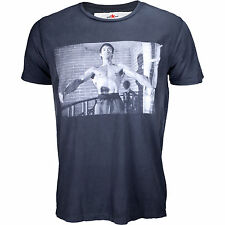 Roots of Fight Bruce Lee Stance Photo Sun Faded Shirt