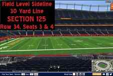 2 tickets Broncos vs Bengals 12/28 (Denver). FIELD LEVEL 30-YD LINE.  $250 each