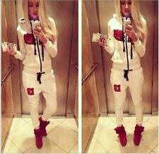 Women Casual Black Star Timati White Hoodies Athletic Athletic Apparel Pant Suit