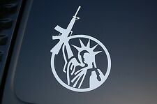 Gun Rights Sticker Three Percenter Vinyl Cut Out Statue Of Liberty NRA V199