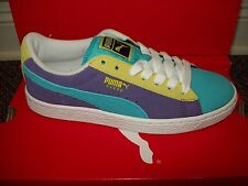 PUMA Youth Suede Jr Athletic Sneaker #355110-27 Blue Atoll/Parachute Purple