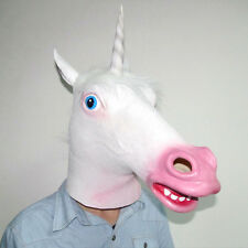 Three Colour Unicorn Period Costume Party Latex Mask for Halloween & Christmas