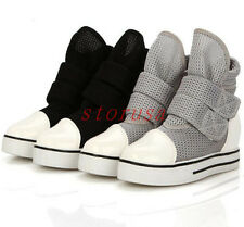 Womens High Top Velcro Strap Platform Creeper Tennis Athletic Shoes Sneakers Sz