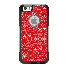 OtterBox Commuter for iPhone 5S SE 6 6S 7 Plus Red White Floral