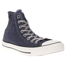 New Mens Converse Blue All Star Hi Textile Trainers Canvas Lace Up