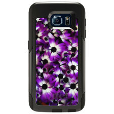 CUSTOM OtterBox Commuter for Galaxy S4 S5 S6 S7 Purple White Black Flowers