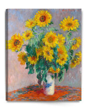 Sunflowers by Monet Giclee Print Stretched Canvas Gallery Wrapped 16x20