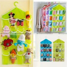 16 Pocket Over Door Hanging Bag Shoe Toy Hanger Storage Tidy Jewellery Organizer