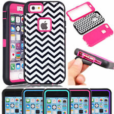 Armor Glossy Wave Pattern Soft Hard Shockproof Case For iPhone & Samsung Phones