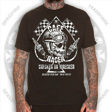 Dragstrip Clothing Checker Wrecker Cafe Racer Greaser 13  tattoo biker  t`shirt