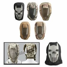 Army Mesh Full Face Skeleton Mask Black Airsoft Game Skull Paintball Safety New