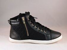 Womens New Black1 High Top Lace Up Sneakers Ankle Boots Flat Casual Shoes