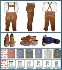 German Bavarian Oktoberfest Trachten Package Lederhosen+Shirt+Shoes+Socks GP3467