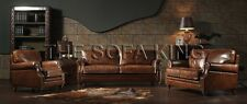 A103 VINTAGE sofa, antique leather lounge, couch retro old