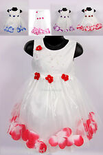 Girls Flower Party Wedding Bridesmaid Pageant Dress-NEW 9-12 months to 5-6 Years