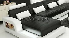 H2209C  L shape chaise modern sofa, Leather lounge, Couch. 30 colours. 5 Years