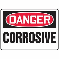 NS Signs Danger Corrosive OSHA Safety Sign