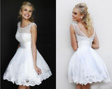 Women sexy Evening club Short Prom Mini Dress Party cocktail ball gown new White