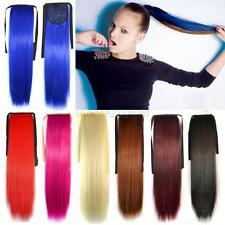 Ladies Long Straight Ponytail Cosplay Party Costume Straight Wigs Full Wig + Cap
