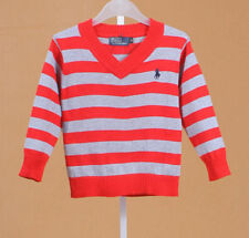 100% Cotton kids Sweater Boys Girls Children's Knit Sweater 3 colors 2-6 Y